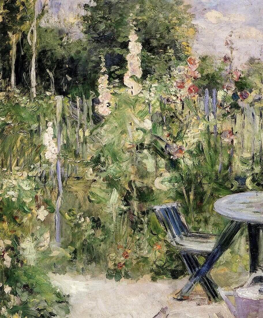 """""""Roses Trémières"""" szerző: Berthe Morisot"""